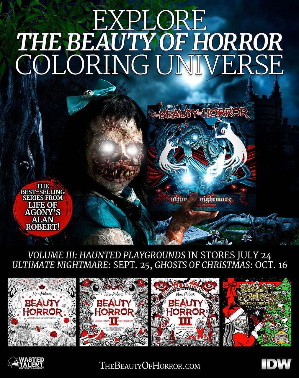 The Beauty of Horror: A GOREgeous Coloring Book by Alan Robert